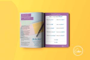 Brand Canvas 3d internal book open
