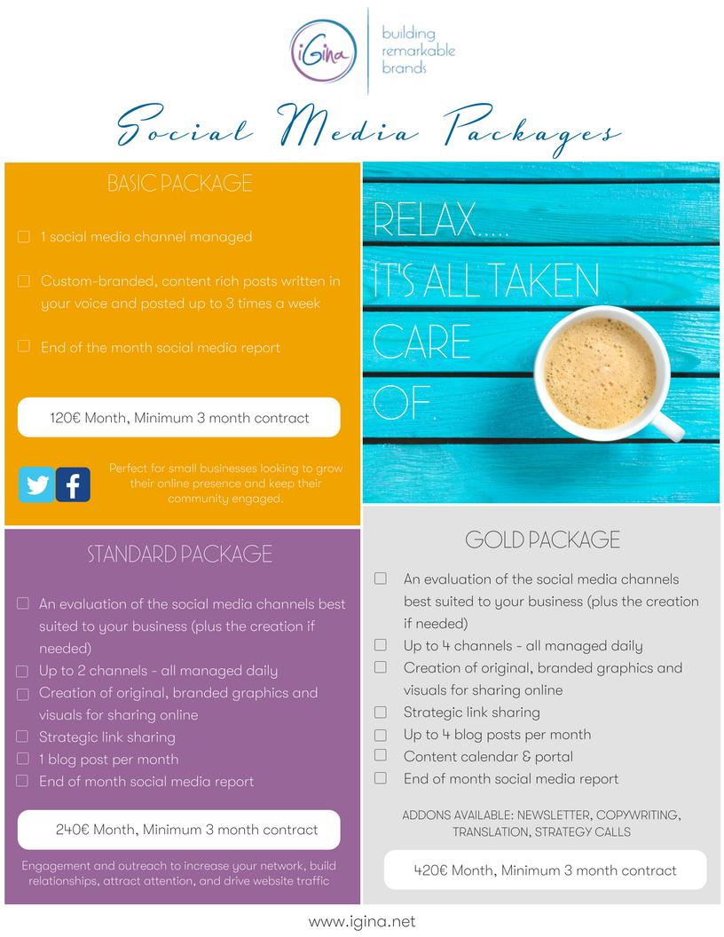Fully integrated social media management packages - iGina ...