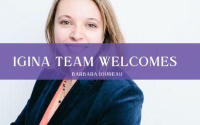 iGina team welcomes Barbara Joureau