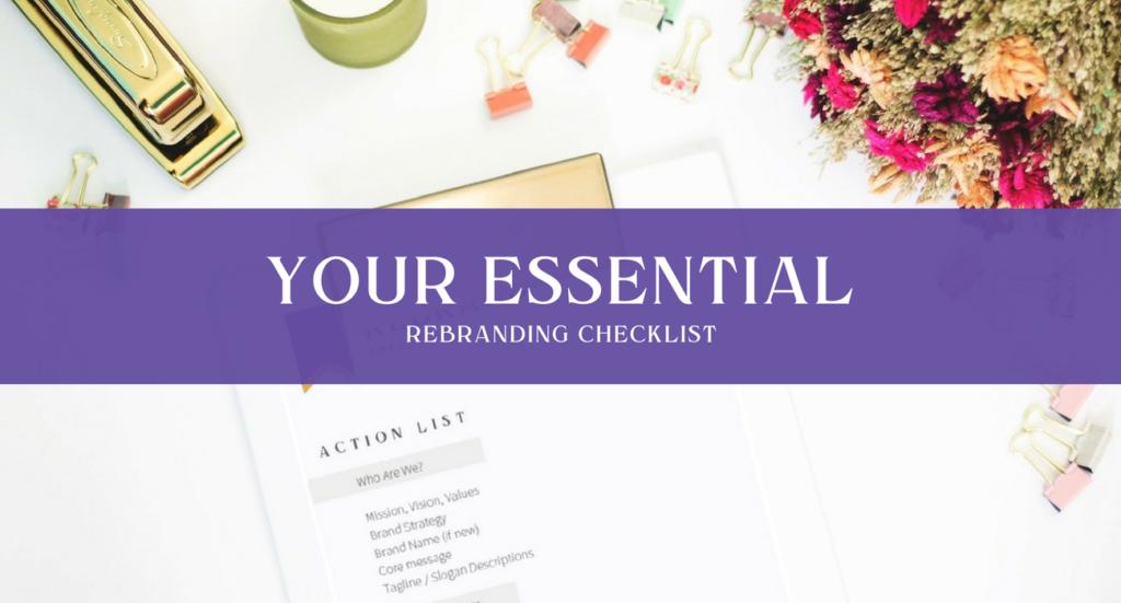 essential rebranding checklist igina