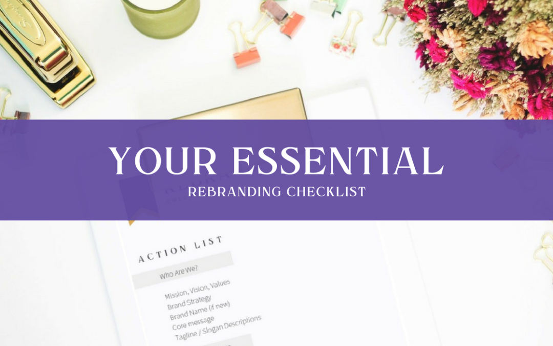 Your Essential Rebranding Checklist