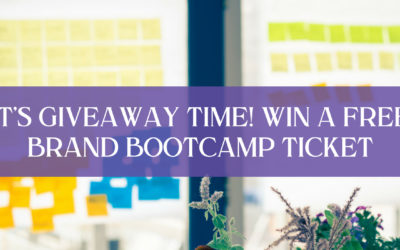 IT'S GIVEAWAY TIME! WIN A FREE BRAND BOOTCAMP TICKET