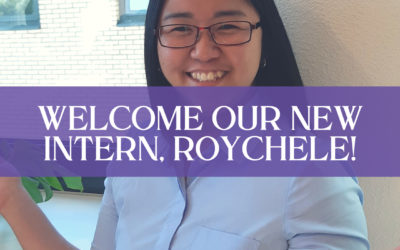 Welcome our new intern, Roychele!