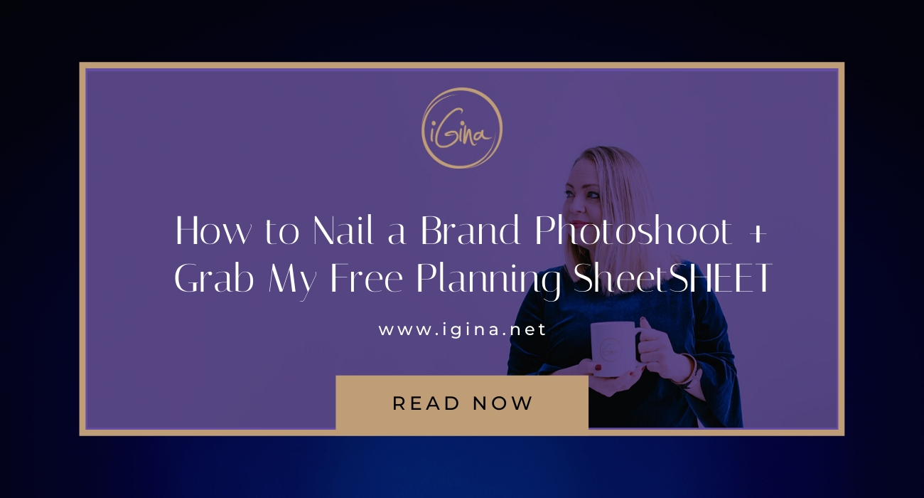 Lights! Camera! Action? How to nail your brand style photoshoot (Bonus: get my free planning worksheet!)